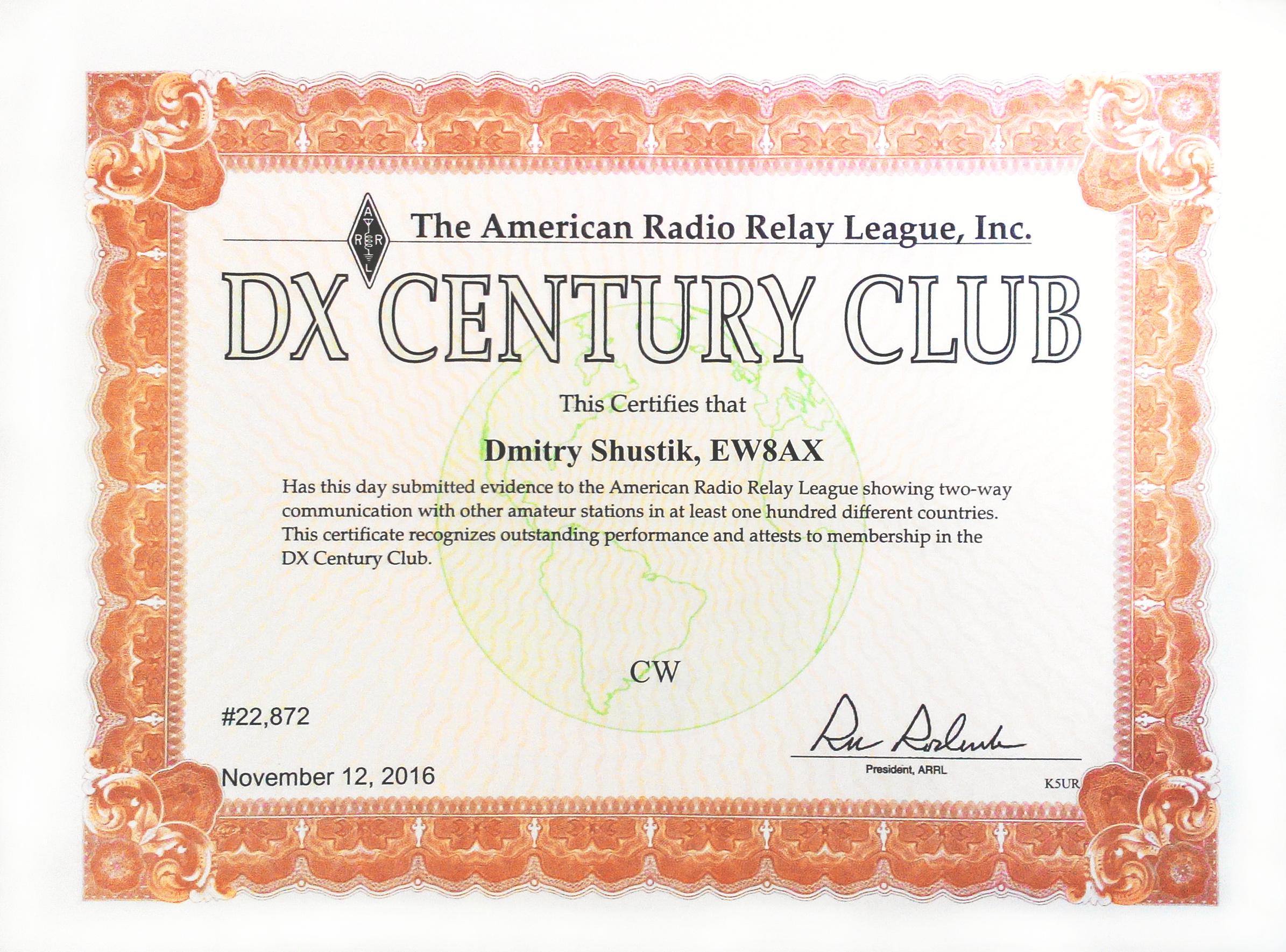 ARRL DXCC CW