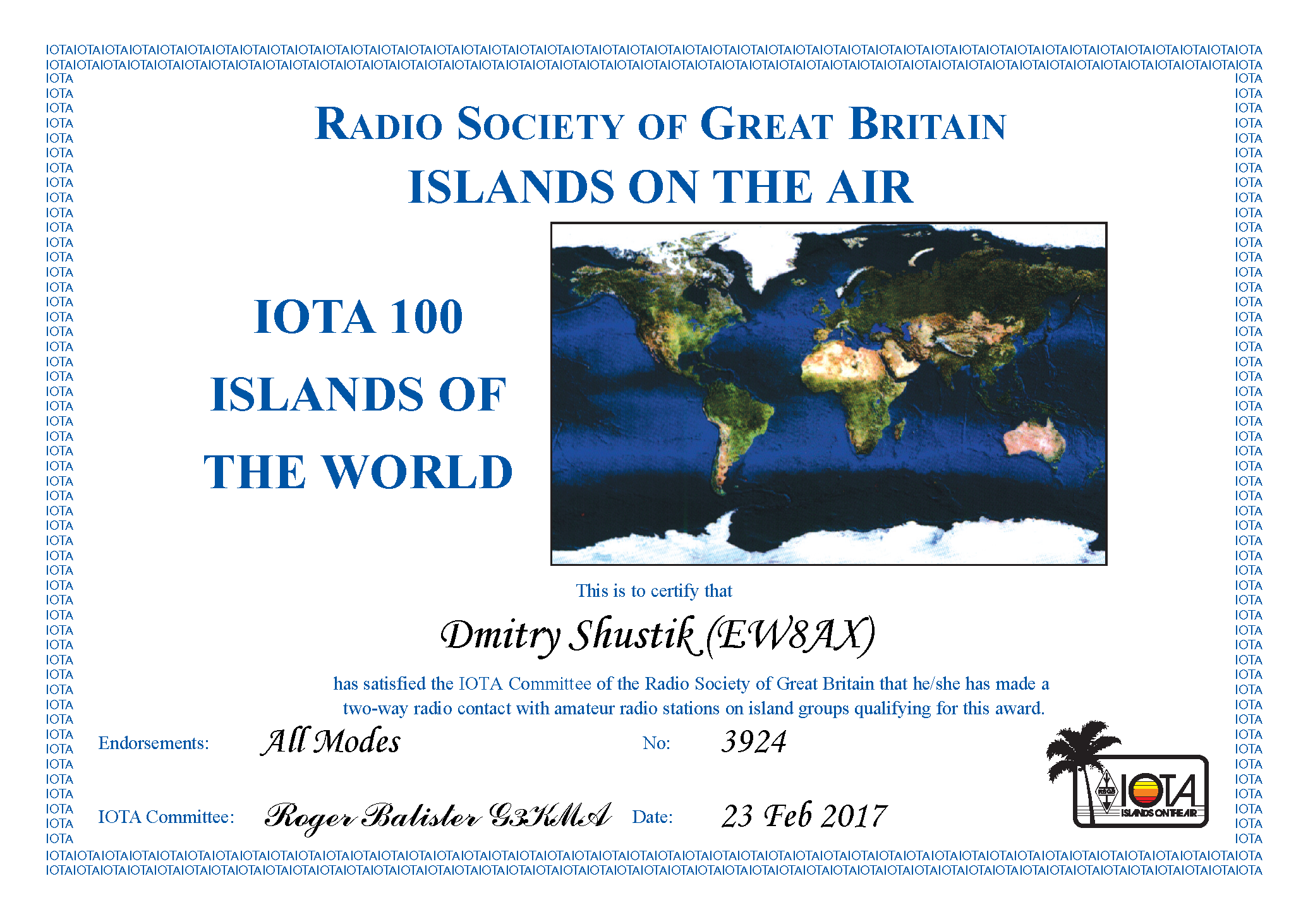 ew8ax IOTA 100 base AWARD